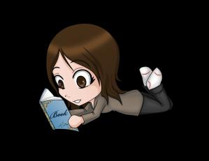 Chibi Jen reading