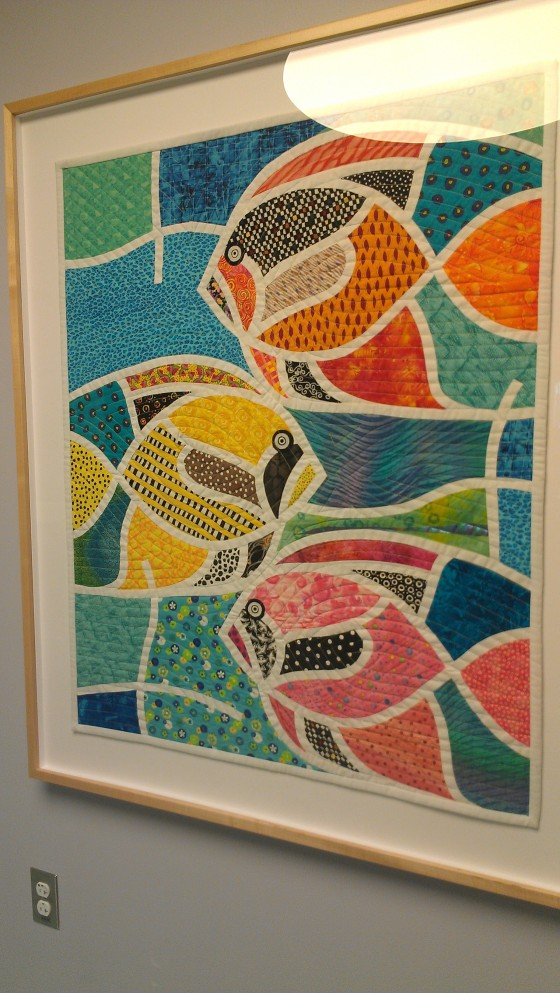 Quilt with fish