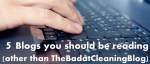 5 blogs you should be reading (other than TheBadatCleaningBlog)